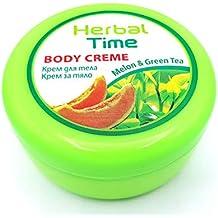 Herbal Time, Crema Corporal con Melón y Té Verde muy ricos en antioxidantes