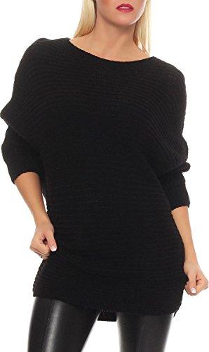 malito Maglione nella Basic-Look Gilet Giacca Bolero Poncho Oversize Cardigan Casual 7325 Donna Taglia Unica (nero)