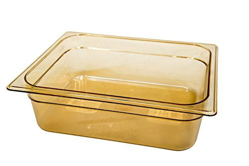 Rubbermaid 1/2 100mm 6L Gastronorm GN Food Pan - Amber