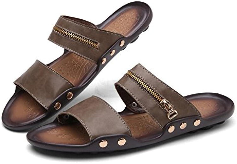 Zapatos para hombres Cuero Primavera Verano Confort Sandalias Zapatos para caminar Remache para oficina y carrera...