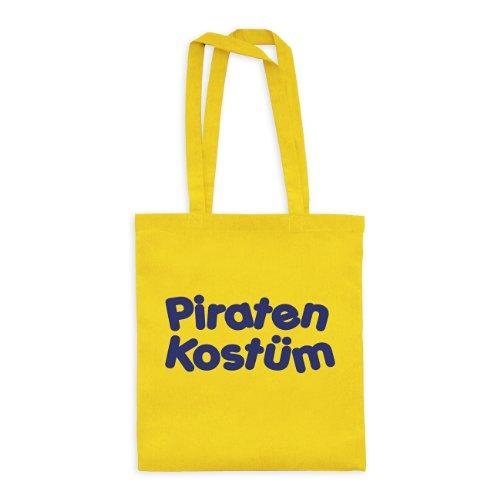 (dress-puntos Baumwolltasche Piraten Kostüm 20drpt15-bwt00393-32 Textil yellow / Motiv violett - 42 x 38 cm)