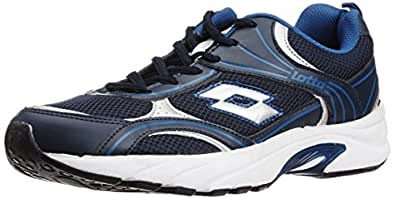 Lotto Men's Maiorca II Navy and Blue Ray Mesh Running Shoes - 7 UK/India (41 EU)