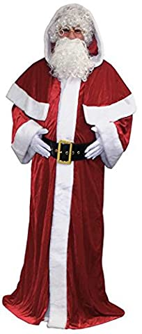 Costume pere noel manteau luxe velours polyester xxl (58-60)