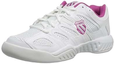 K-Swiss Performance Women's KS TFW CALABASAS-WHT/MGNTA/SLV Tennis Shoes, Blanc (White/Magenta/Silver), 4.5 UK