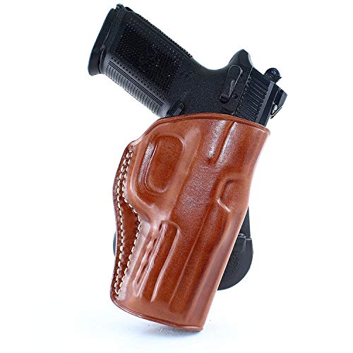 "Masc Leather Paddle Holster Fits Eea Witness Pavona Compact 9Mm 3.6"" BBL Right Hand Brown (Right Hand Draw)"