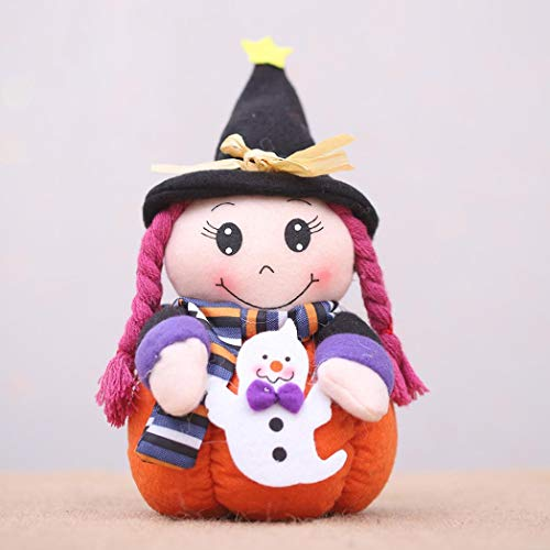 (gaddrt Halloween Anhänger Puppe, Halloween-Puppe-Geist Hexen Dekor Bar Kürbis Atmosphäre Dekor Prop Spielzeug (C))