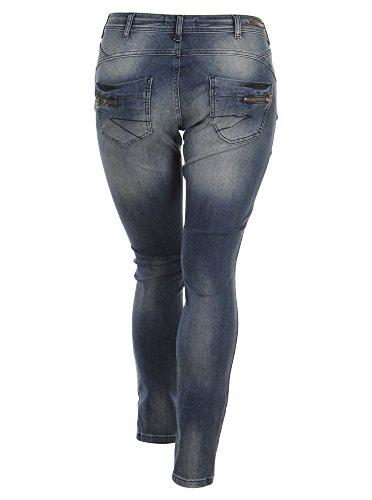 Jeans mit Button Fly Verschluss in blau in Übergrößen (42, 44, 46, 48, 50, 52, 54) von Zizzi Blau