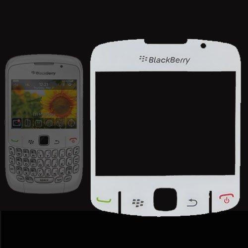 TECHGEAR Blackberry 8520 Curve Ersatzbildschirm Objektiv - Weiss - Einfach Selbst-Montage - Austausch kaputter/zerkratzter Displays, Leichte Montage - Bildschirm 8520 Blackberry