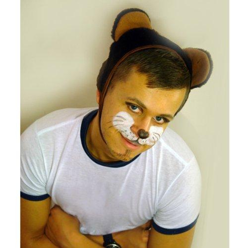 Faschingskostüm Bär Mütze mit Ohren Kappe Hut Bär Karneval Kostüme für Kinder älter als 9 Jahre, Herren Männer Frauen Festtage Größe L / XL Geschenk (Bär Für Kostüme Männer)