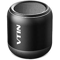 VTIN K1 - Altavoz Bluetooth Portátiles, Sonido con Estéreo Premium 8W, Apoyar conexión por Bluetooth, Tarjeta microSD y AUX-IN Puerto, el Tamaño Pequeño y Cómodo.