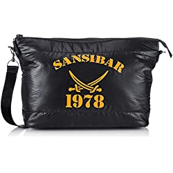 Sansibar Turn Around B-455 TD 01 Damen Shopper 42x28x17 cm (B x H x T), Schwarz (black)