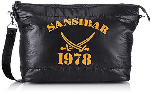 Sansibar Turn Around B-455 TD 01, Borsa a tracolla Donna Nero (Schwarz (black))