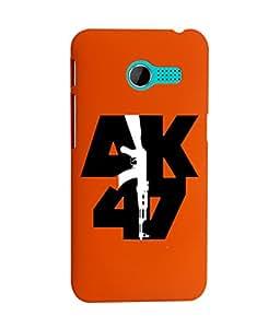 KolorEdge Back Cover For Asus Zenfone 4 - Orange (1926-Ke15110Zen4Orange3D)