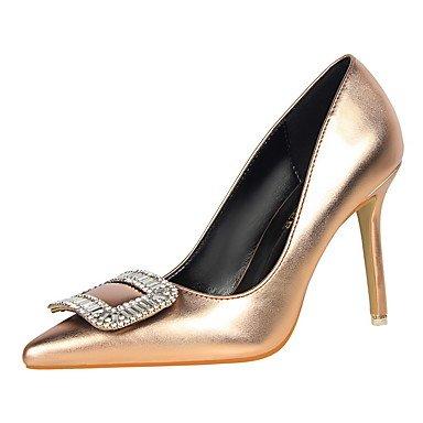 Moda Donna Sandali Sexy donna caduta tacchi Comfort abito in similpelle Stiletto Heel pulsante / Altri più colori disponibili. Black
