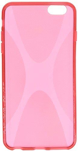 BoxWave Étui iPhone 6Plus Coque pour Apple iPhone 6Plus body, texturé en caoutchouc TPU Gel pour Apple iPhone 6Plus Coque-chocs d'absorption (Rouge écarlate)