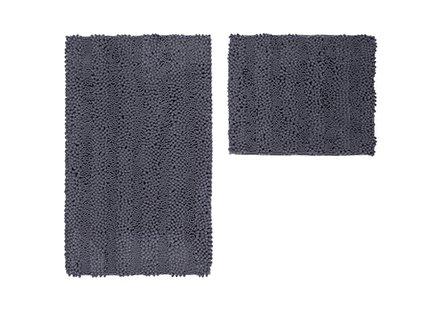 Price comparison product image Obsession Bath Mat Vogue 635, graphite, Basic Set 55x90/55x45 cm