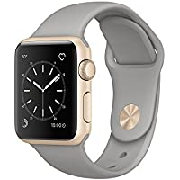 Apple 38 mm Series 1 Smart Watch with Concrete Sport Band (Gold)