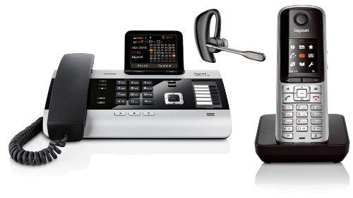 Siemens Gigaset DX600A SET mit S79H Mobilteil und Plantronics Voyager Pro+ Bluetooth Headset
