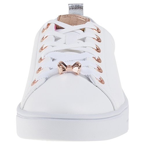 Ted Baker Kellei, Baskets Femme White Gold