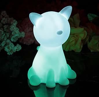 nachtlicht mit batterie kinder baby led katze stimmungslicht lampe farbwechsel sensorisches. Black Bedroom Furniture Sets. Home Design Ideas