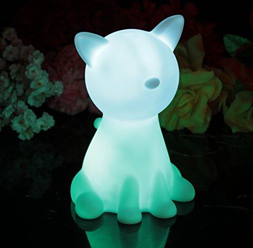 PK Green Stimmungslicht Nachtlicht mit Farbwechsel (20cm Katze)