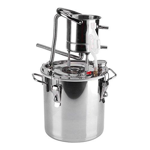 10 / 20L DIY CASA Alambique Destilador Destilación Still Enfriador Caldera Termómetro Vino Alcohol Agua Esencial Aceite Preparación Kit (10L)