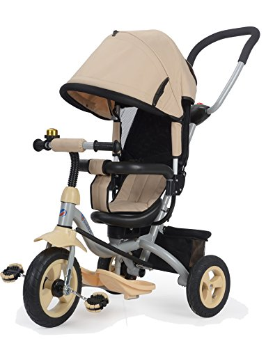 Surreal 4 in 1 Deluxe-Dreirad für Kinder, mit drehbarem Sitz, neigungsverstellbare Rückenlehne und Gummireifen - Trike