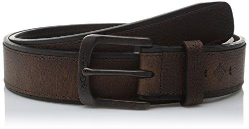 Columbia Men's 1 9/16 Inch Cut Edge with Overlay Belt, Brown, 38