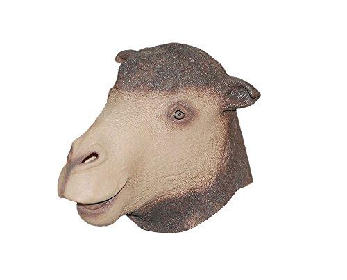 niceEshop(TM) Latexgummi Halloween Party Erwachsene Kamel Kopf Maske