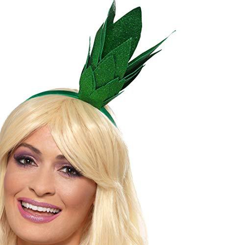 NET TOYS Ananas-Haarreif | Grün | Extravagantes Damen-Kostüm-Zubehör Krone Freches Früchtchen geeignet für Sommerfest & (Ananas Kostüm Für Erwachsene)