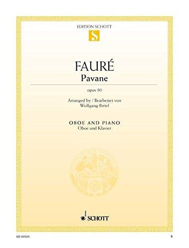 Pavane: op. 50. Oboe und Klavier. (Edition Schott Einzelausgabe)