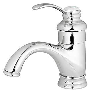 Retro Badezimmer Einhebel Bad Armatur Waschbecken Waschtisch Chrom Sanlingo