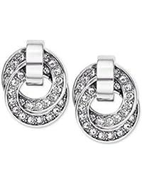 Michael Kors MKJ 3434 Silver Interlocking Rings Earrings