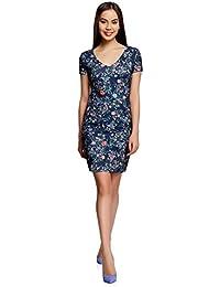 d3ae33cb8a9 oodji Collection Femme Robe en Tissu Texturé avec Col ...
