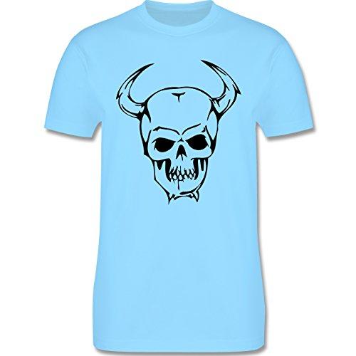 Piraten & Totenkopf - Totenkopf - Herren Premium T-Shirt Hellblau