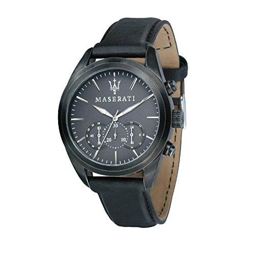 MASERATI Orologio Cronografo Quarzo Uomo con Cinturino in Pelle R8871612019