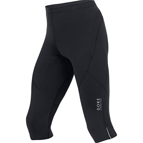GORE RUNNING WEAR Herren Enganliegende 3/4 Laufhose, GORE Selected Fabrics, ESSENTIAL Tights 3/4, Größe M, Schwarz, TESSNT