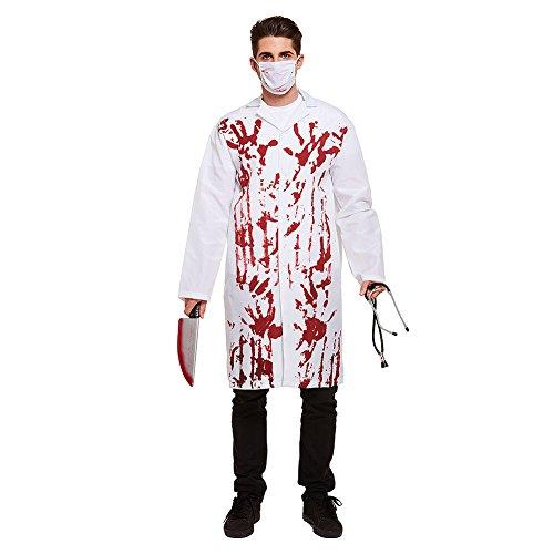 Blutiger Doctor Kostüm (Weiß)