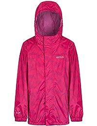 Regatta Boys & Girls Printed Pack It Waterproof Breathable Jacket