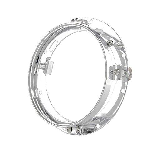 17,8cm Zoll Halterung Ring für 17,8cm LED Projektor Kopf Licht für Harley Davidson Motorrad (chrom)