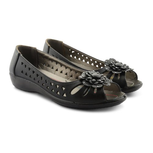 Footwear Sensation, Mary Jane basse donna Nero nero Nero (nero)