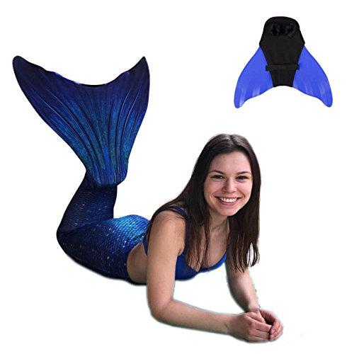 SUN TAILS Set Meerjungfrauen Kostüm Ocean Deep XL blau