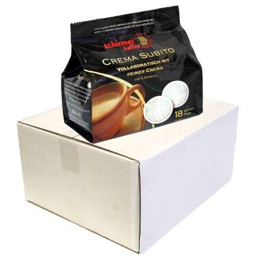 Kaffeepads schirmer kaffee Crema Subito, 5x 18 Pads