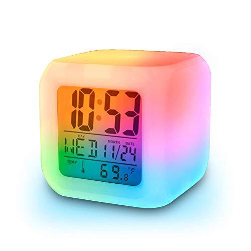 Desk Clock Nordic Creative Clock Modern Simplicity Time Clock Creative Mute Quartz Clock Living Room Bedroom Large Desktop Table Clock Color : Black, Size : 20cm*22cm