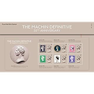 2017 The Machin Definitive 50th Anniversary stamps in a Presentation Pack - Royal Mail Mint Stamps