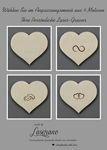 Alternatives Hochzeitsgästebuch, Herzform   Personalisierbar mit Wunschgravur - 3