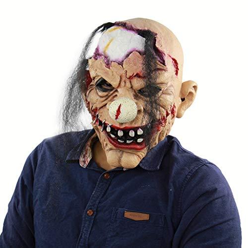 Unheimlich Kostüm Clown Zombie - Zombie Clown Latex Manschette Halloween Spukhaus Geistermaske Kostüm Party Gruselig Unheimlich Dekoration Requisiten Party Vollkopf Cosplay Maske Maskerade Requisiten
