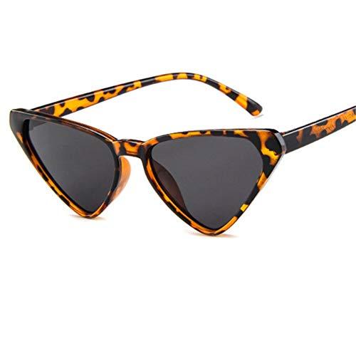 ZHOUYF Sonnenbrille Fahrerbrille Übergroße Sonnenbrille Frauen 90Er Jahre Cat Eye Sonnenbrille Weibliche Vintage Sexy Dreieck Brille, C