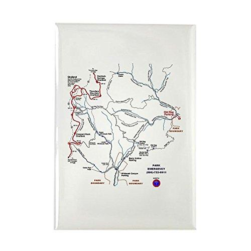 CafePress - Old Rag Mountain Trail Map - rechteckiger Magnet, 5,1 x 7,6 cm Kühlschrankmagnet -