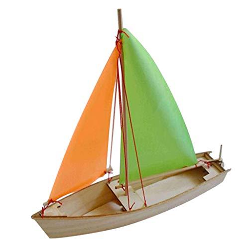 KESOTO Holz 3D DIY Segelboot Boot Segelschiff Modell Bausatz für Kinder Erwachsene (Holz-boote-modelle)